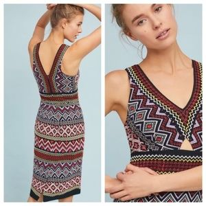 NWT ANTHROPOLOGIE Geo-Embroidered Column Dress